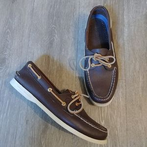 Sperry topsider leather loafers/boat shoes 10
